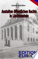 Anstalten öffentlichen Rechts in Liechtenstein