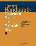 Springer Handbook of Condensed Matter and Materials Data