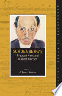 Schoenberg S Program Notes And Musical Analyses