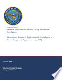 Operations Research Applications For Intelligence Surveillance And Reconnaissance