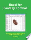 Excel for Fantasy Football