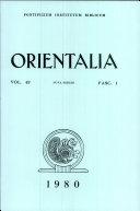 download ebook orientalia: vol. 49 pdf epub