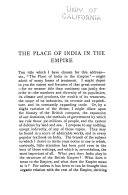 The Place of India in the Empire