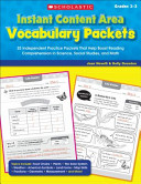 Instant Content Area Vocabulary Packets