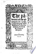 The Pa[n]dectes of the Euangelycall Lawe