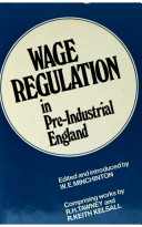 Wage Regulation in Pre industrial England