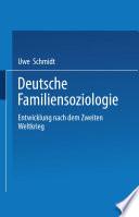 Deutsche Familiensoziologie