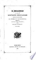 Il decameron di messer Giovanni Boccaccio