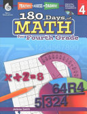 180 Days of Reading  Writing and Math for Fourth Grade 3 Book Set