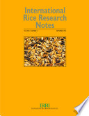 International Rice Research Notes Vol 19 No 3