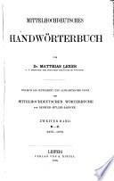Mittelhochdeutsches handwörterbuch: Bd. N-U