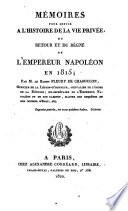 Recueil de Pieces Authentiques sur le Captif de Ste-Helene