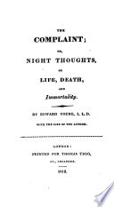 The Complaint  Or  Night Thoughts