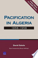 Pacification in Algeria  1956 1958