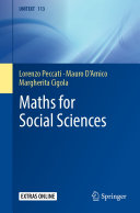 Maths for Social Sciences