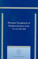 Finnish Yearbook of International Law  Volume 13  2002