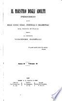 Il maestro degli adulti periodico ad uso delle scuole serali  domenicali e reggimentali del Regno d Italia