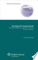 Investing In Eu Energy Security book
