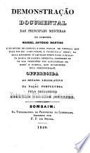 Demonstração documental das principaes mentiras do coronel Manoel Antonio Martins