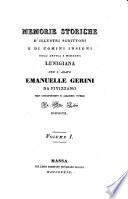 Memorie Storiche D'Illustri Scrittori E Di Uomini Insigni Dell' Antica E Moderna Lunigiana