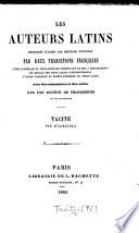 Tacite. Vie d'Agricola. (Ouvrage expliqué, annoté et revu, pour la traduction française, par M. H. Nepveu.).