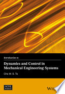 Introduction to Dynamics and Control in Mechanical Engineering Systems
