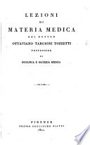 Lezioni di Materia Medica