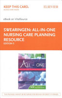 All In One Nursing Care Planning Resource Elsevier Ebook On Vitalsource Retail Access Card