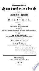 Synonymisches Handw  rterbuch der englischen Sprache f  r die Deutschen