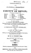 Topographical and Statistical Description of the County of Derby ... With a map, etc