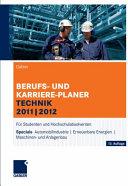 Gabler Berufs- und Karriere-Planer Technik 2011 | 2012