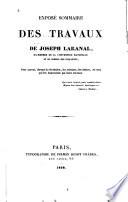 Exposé sommaire des travaux de Joseph Lakanal