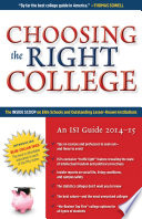Choosing the Right College 2014   15