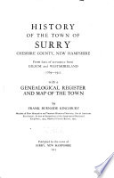 History of the Town of Surry  Cheshire County  New Hampshire