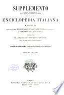 Supplemento alla sesta edizione della Nuova enciclopedia italiana