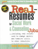 Real resumes for Social Work   Counseling Jobs