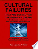 Cultural Failures That Are Destroying the American Dream    The Destructive Influence of Male Dominance   Religious Dogma
