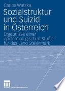 Sozialstruktur und Suizid in Österreich
