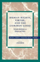 Human rights  virtue  and the common good