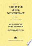 Musikalische Interpretation Hans von B  low