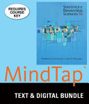 Statistics for the Behavioral Sciences   Mindtap Psychology  6 month Access