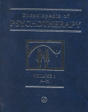 Encyclopedia Of Psychotherapy Two Volume Set book