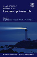 Handbook of Methods in Leadership Research
