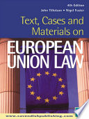 Text  Cases and Materials on European Union Law