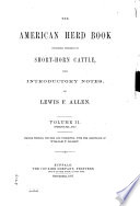 The American Short-horn Herd Book ...