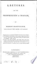 Lectures on the prophecies of Isaiah