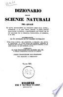 Dizionario Delle Scienze Naturali