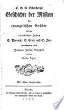 Geschichte der Mission der evangelischen Brüder auf den caraibischen Inseln S. Thomas, S. Croix und S. Jan