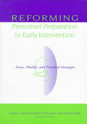 Reforming Personnel Preparation In Early Intervention