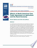 Effects of North American Free Trade Agreement on Agriculture and the Rural Economy